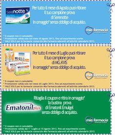 Campioni prova gratuita da MiaFarmacia from Campioni omaggio gratuiti, Concorsi a premi, Buoni sconto - DimmiCosaCerchi.it