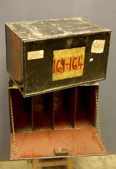 Edwardian (1901-1910) Antique Industrial Style Steel Deed Box Be Friendly In Use Antique Furniture