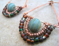 Moroccan Flavor Earrings by willowcreekdesign on Etsy