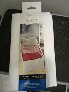 Storage bag for bulky comforters/blankets in linen closet