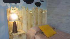 Hacer cabecero de madera con forma de casas #cabecero #diy