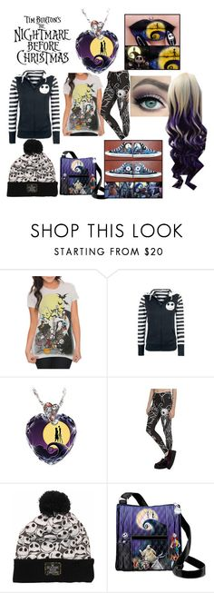 """""""Nightmare Before Christmas Outfit"""" by bananaofawesomness ❤ liked on Polyvore featuring The Bradford Exchange, Burton and Converse"""