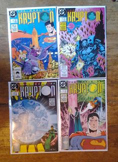 World of Krypton; Vol 2, 1 through 4 Copper Age Comic Books (Limited Series).  NM (9.4). 1987 - 1988.  DC Comics #superman #mikemignola #comicsforsale