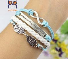 Infinity bracelet where there is a will there is by littlecuteowl, $4.99