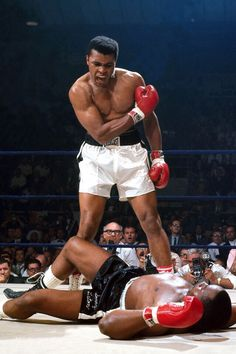 "obscenewasteofbandwidth: "" Happy Birthday Muhammad Ali, 74 today. Any excuse to post this pic, the greatest sporting picture ever taken in my opinion """