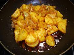 Sri Lankan   Ala Badun ( Potatoes and Onions). Photo by Brian Holley