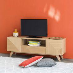 Meuble TV vintage 2 portes 1 ... - Origami
