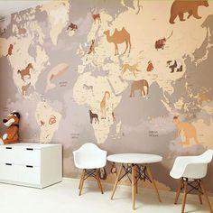 Check My Other Kids Room Ideas >>>>>> - Kids Room Ideas - Kinderzimmer Baby Bedroom, Girls Bedroom, Kid Spaces, Kids Decor, Boy Room, Room Inspiration, Room Decor, Decoration, Animal Wallpaper