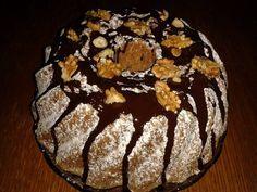 Jak udělat ořechovou bábovku s čokoládovou polevou | recept