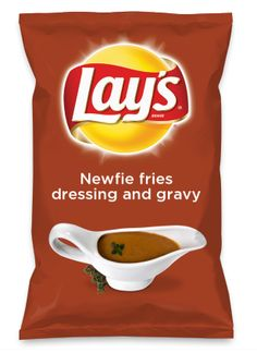 My submission for a new lays potato chip flavor :) Lays Potato Chip Flavors, Lays Chips Flavors, Lays Potato Chips, Gravy Fries, Beef Gravy, Sausage Gravy, Roux Gravy, Gravy For Mashed Potatoes, Potato Gravy