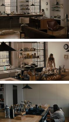almost everything fits under the counter from the location used in the movie Last Night as the main characters' home.