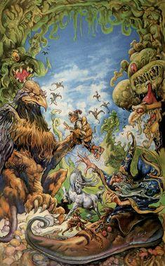 Josh Kirby - Disc world Terry Pratchett Discworld, Fanart, Nerd, Science Fiction Art, Fantasy World, Fantasy Books, Fantasy Artwork, Illustrations And Posters, Faeries
