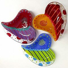 Doodle Heart Bowl by Anne Nye : Blue Pomegranate Gallery