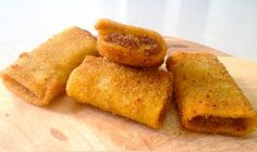 Italské recepty: Smažené paccheri plněné houbami Ricotta, Frittata, Easy Peasy, Finger Foods, Cornbread, Italian Recipes, Fries, Stuffed Mushrooms, Lemon