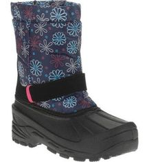Girl's Essential Winter Boot, Size: 7, Blue