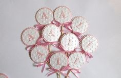 Children's Party Decorations – 12 Baby Shower Cupcake Toppers. Number/ Letter – a unique product by MagicalStart on DaWanda