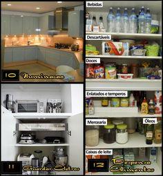 Iluminação, despensas, cozinha planejada.