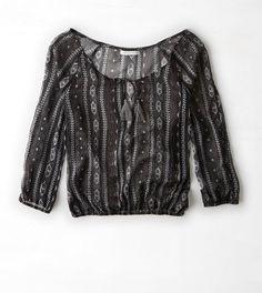 AEO Printed Chiffon Shirt- $34.95