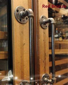 """12 """"/30 センチ アメリカ農村アンティーク ドア ハンドル を引い て ハンドル取手水鉄パイプ"""