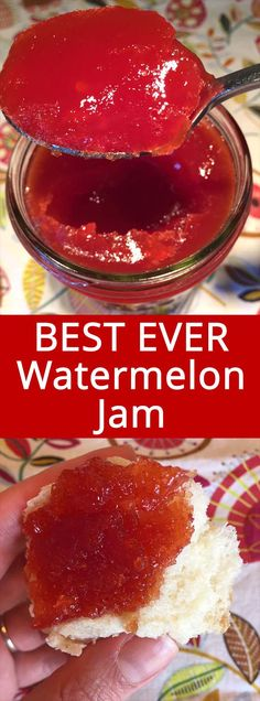 Watermelon Jam – Easy and Foolproof This watermelon jam recipe is amazing! Perfectly set jam that tastes like extremely concentrated watermelon – mmmmm! Super easy to make, perfect for beginners! This is the only watermelon jam recipe you'll ever need! Jelly Recipes, Dessert Recipes, Desserts, Easy Jam Recipes, Freezer Jam Recipes, Easy Recipes For Beginners, Pizza Recipes, Drink Recipes, Canning Recipes