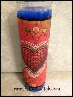 Voodoo Erzulie Dantor Veve Fixed Candle Hoodoo by RitualWitchShop