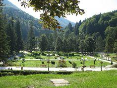 Slanic Moldova - Parcul central - Balneary place.