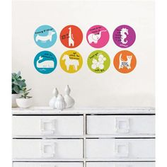A cute dry-erase idea for somebody sweet on your list this year, Menagerie Weekly Dots by Jonathan Adler for WallPops would look especially adorable on the fridge