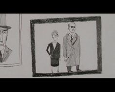 An animated documentary about a life devoted to the dead. Pencil on paper, Royal College of Art, 2006.
