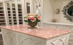 Rose Quartz Countertop. Now...how do I convince my husband we NEED this.