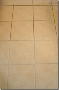 Clean tile grout with OxyClean & water