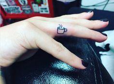 Lea Michelle Coffee cup tattoo in honor of her grandma