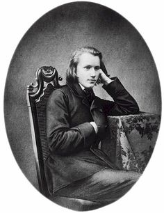 Johannes Brahms- aside from being a tremendous composer was quite handsome, in my opinion. Although he never did marry, there was speculation as to whether or not he and Clara Schumann had been lovers. Robert Schumann had attempted suicide and was institutionalized, and subsequently died. Brahms undoubtedly provided comfort, but also sacrificed much of his career. Such are the affairs of the heart..