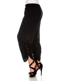 Another great find on #zulily! Black Button Gaucho Pants - Plus #zulilyfinds