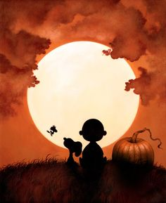 Dan May Charlie Brown Halloween and Christmas Prints. Dan May Charlie Brown Halloween and Christmas Prints… Dan May Charlie Brown Halloween and Christmas Prints… Charlie Brown Halloween, Charlie Brown And Snoopy, Charlie Brown Thanksgiving, Charlie Brown Quotes, Great Pumpkin Charlie Brown, Snoopy Love, Snoopy Et Woodstock, Halloween Art, Vintage Halloween