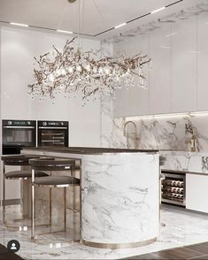 Luxury Kitchen Design, Kitchen Room Design, Home Room Design, Dream Home Design, Home Decor Kitchen, Kitchen Interior, Home Interior Design, House Design, Elegant Kitchens