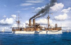 USS Maine. The explosion and subsequent destruction of the Maine in Havana harbor was a precipitating factor in the Spanish-American War