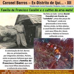 IJUÍ - RS - Memória Virtual: Família de Francisco Casalini e o cultivo da…