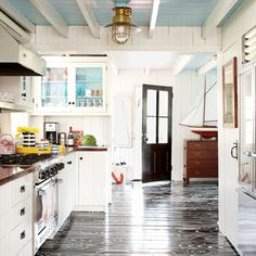 Graphic Floors - 100 Comfy Cottage Rooms - Coastal Living