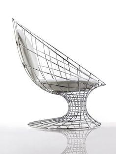 Metal armchair FILO by Désirée |Design Marc Sadler