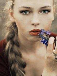 flower girl on .Get Inspired! Magazine