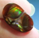 Fire Agates ~ Products ~ MEXICAN Fire Agate Cab From Mexico Gemstone free form multi-colored 18x11 ~ Shopify