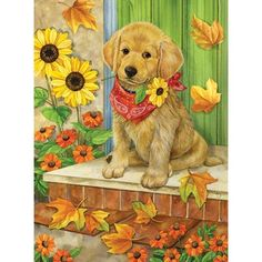 Looking for dog jigsaw puzzles? You'll find a large selection of unique dog jigsaw puzzles for sale for different breeds, sizes, shapes and number of pieces Animals And Pets, Baby Animals, Cute Animals, Fall Garden Flag, Puppy Sitting, Most Popular Dog Breeds, Dog Paintings, Dog Art, Belle Photo