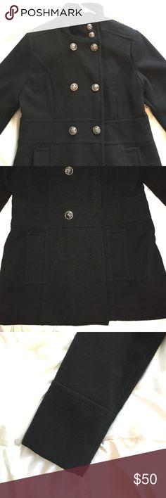 Liz Claiborne peacoat Liz Claiborne double breasted peacoat, cuffed arms, pockets, size medium, polyester lining Liz Claiborne Jackets & Coats Pea Coats