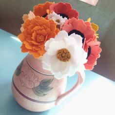 Ten felt wildflowers by TheFeltFlowerShop on Etsy