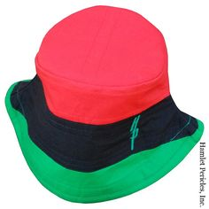 295ac9b5671 Pan-African Flag Red-top Bucket Hat