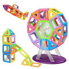 Blocs Construction Magnétiques | Infinitoo Construction Magnétique XXL | Gros Roue de Ferris Construction Magnétiques Colorée | Grand…