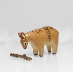 Tribal Deer Figurine by RamalamaCreatures.deviantart.com on @deviantART