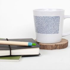 Scattered Seeds Ceramic Mug | love the mug but the wooden coaster steals the shot for me!
