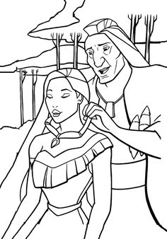 Pocahontas Fargelegging for barn 1 Pocahontas Drawing, Princess Pocahontas, Disney Princess Colors, Disney Pocahontas, Disney Art, Animal Coloring Pages, Coloring Book Pages, Coloring Sheets, My Little Pony Equestria
