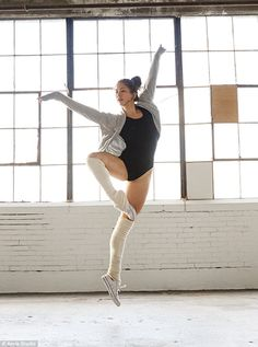 Get your dancing shoes: The nimble pro is seen striking ballet poses and dancing in the new ad